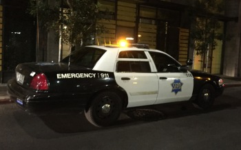 An SFPD squad car. (Alex Emslie/KQED)