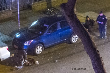 A photo of the scene where Amilcar Perez Lopez was shot and killed by two San Francisco police officers. (Courtesy of Arnoldo Casillas)