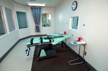 The lethal injection room at San Quentin State Prison, completed in 2010. (CDCR)