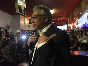 Ross Mirkarimi addresses his supporters on election night. (Alex Emslie/KQED)