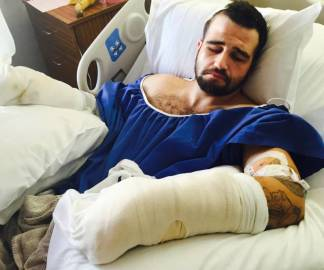 Stanislav Petrov was hospitalized for almost two weeks after two Alameda County sheriff's deputies beat him with batons. (Courtesy of Michael Haddad)